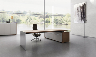 Metalli Wood Office CEO Executive Table Desk Furniture