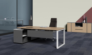 Elegant Simple L-Shape Executive Office Computer Furniture Table (HC-76)