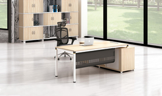 CEO Teak Wooden Office Table Executive Desk L-Shape (HC-97A)