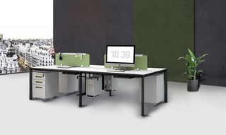 Modular Office Table Design Workstation with Storage (HC-Migge)